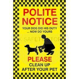 No Fouling Dog Sign