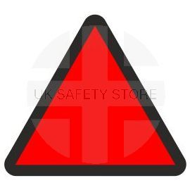 High Risk Assessment for Vibrating Construction Equipment, Self Adhesive Sticker 50W X 50Hmm