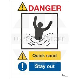 Danger Quicksand Sign - Stay Away