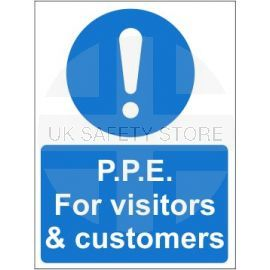 P.P.E for visitors and customers sign in a variety of materials and sizes with or without your logo