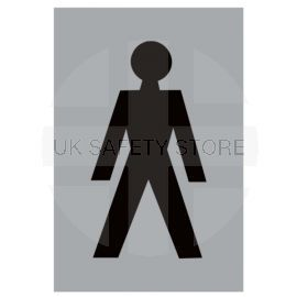 Aluminium Male Toilet Sign