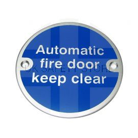 Automatic Fire Door Keep Clear Aluminium Door Sign