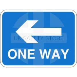 One Way Left Road Traffic Sign