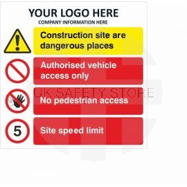 Authorised Vehicle Access Only Multi Message Safety Board