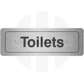Toilets Aluminium Door Sign