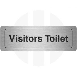 Visitors Toilet Aluminium Door Sign