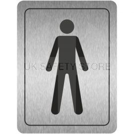 Male Toilet Aluminium Door Sign