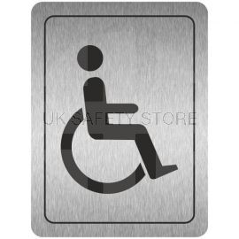 Disabled Toilets (Symbol) Aluminium Door Sign
