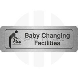 Baby Changing Facilities Aluminium Door Sign