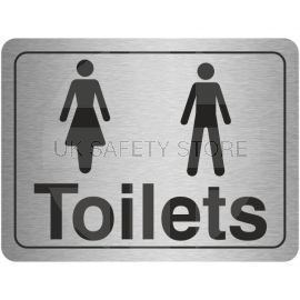 Unisex Toilet Aluminium Door Sign