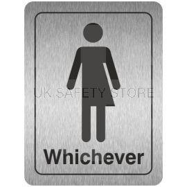 Toilet Signs Gender Neutral Aluminium Door Sign