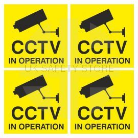 Pack of 4 x CCTV In Operation Signs