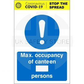 Max Occupancy Of Canteen Covid 19 Sign (Writable)