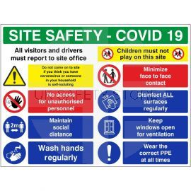 Site Safety Covid-19 Sign