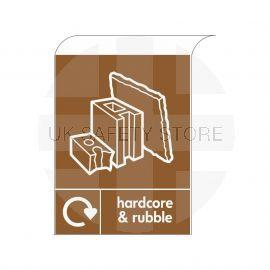Hardcore & Rubble Curve Top Sign Aluminium Composite
