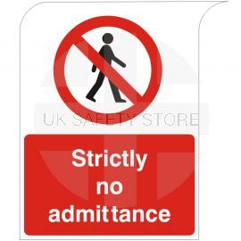 Curve Top Strictly No Admittance Sign