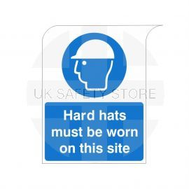 Curve Top Hard Hats Must Be Worn On This Site Sign