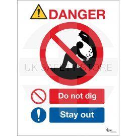 Danger Do Not Dig Sign - Stay Away