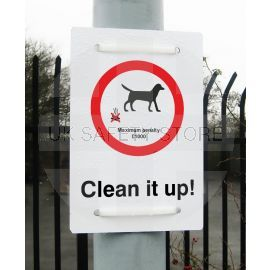 Clean It Up Maximum Penalty £1000 Sign