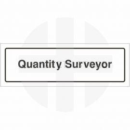 Quantity Surveyor Door Sign