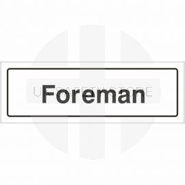 Foreman Door Sign