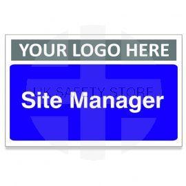 Site Manager Custom Logo Door Sign