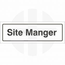 Site Manager Door Sign