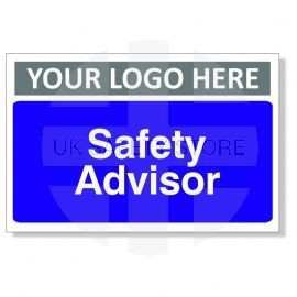 Safety Advisor Custom Logo Door Sign