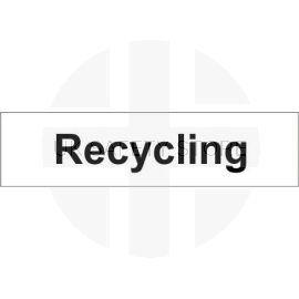 Recycling 600w x 150h mm door sign in rigid plastic