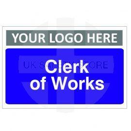 Clerk Of Works Custom Logo Door Sign