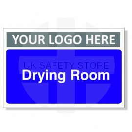 Drying Room Custom Logo Door Sign