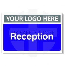 Reception Custom Logo Door Sign