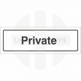 Private Door Sign