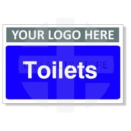 Toilets Custom Logo Door Sign