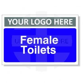 Female Toilets Custom Logo Door Sign