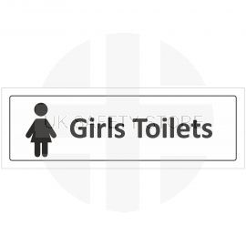 Girls Toilet Door Sign With Symbol