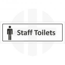Male Staff Toilets Door Sign With Symbol