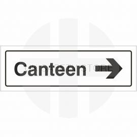 Canteen Right Door Sign