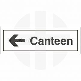 Canteen Left Door Sign