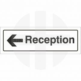 Reception Left Door Sign