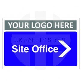 Site Office Arrow Right Custom Logo Door Sign