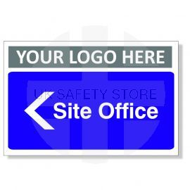 Site Office Arrow Left Custom Logo Door Sign
