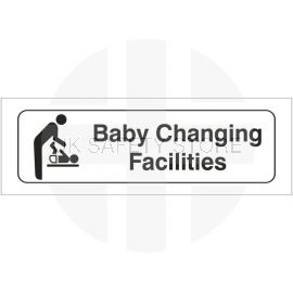 Baby Changing Facilities Toilet Door Sign