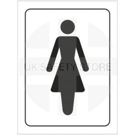 Ladies Toilet Symbol Door Sign