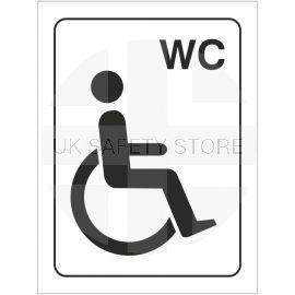 Disabled WC Symbol Toilet Door Sign