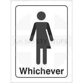 Toilet Sign Gender Neutral Door Sign