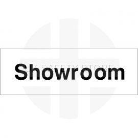 Showroom Door Sign