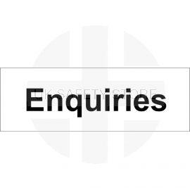 Enquiries Door Sign