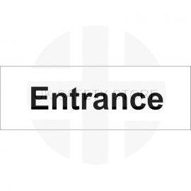 Entrance Door Sign