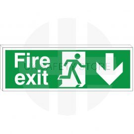 Fire Exit Sign - Down (Double Sided)